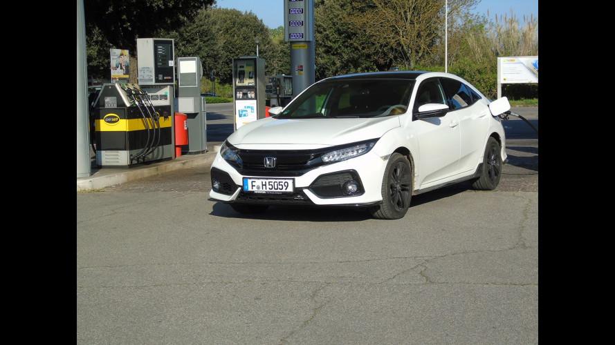 Honda Civic 1.5, la prova dei consumi reali