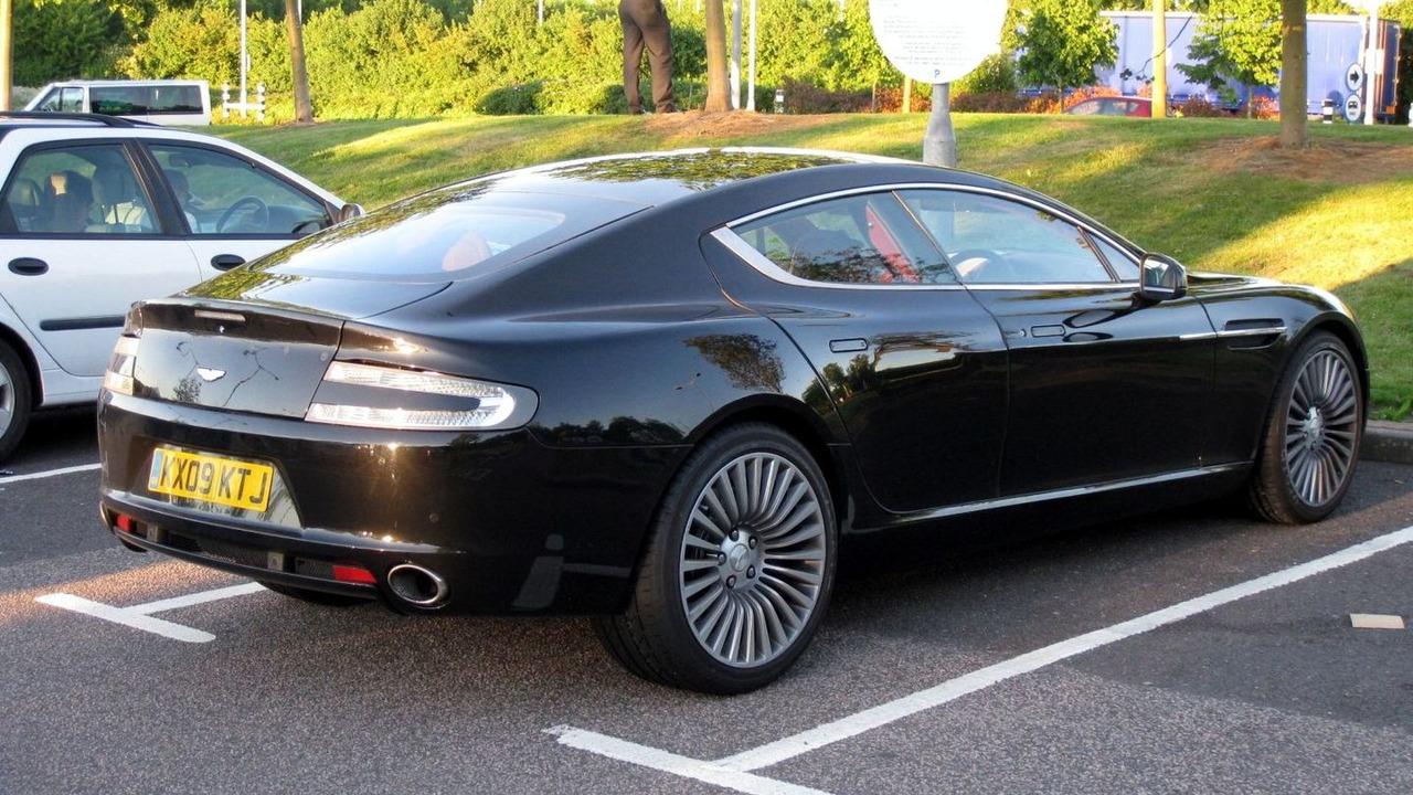 Aston Martin Rapide uncovered spy photo