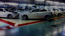 Alfa Romeo Milano spy photos in factory