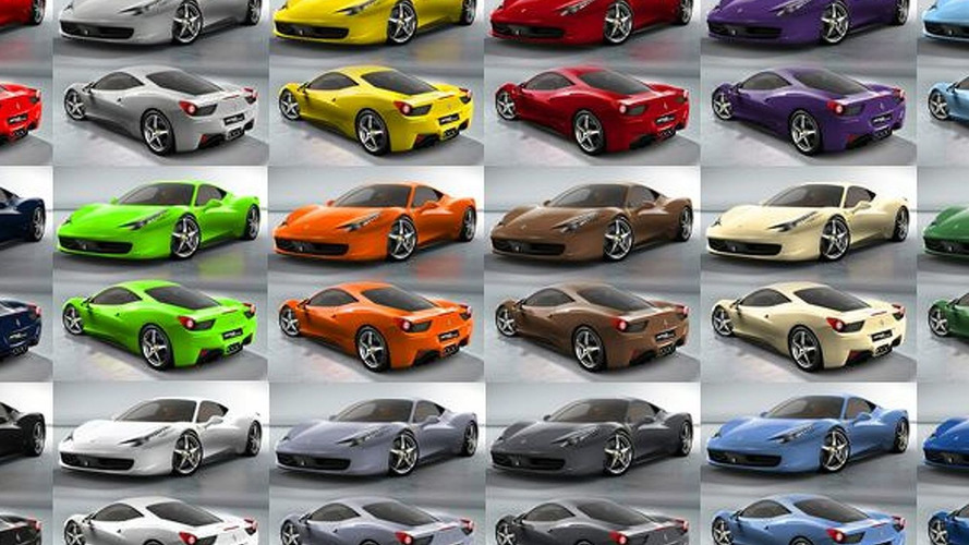 Ferrari 458 Italia - Which Colour Do You Prefer?