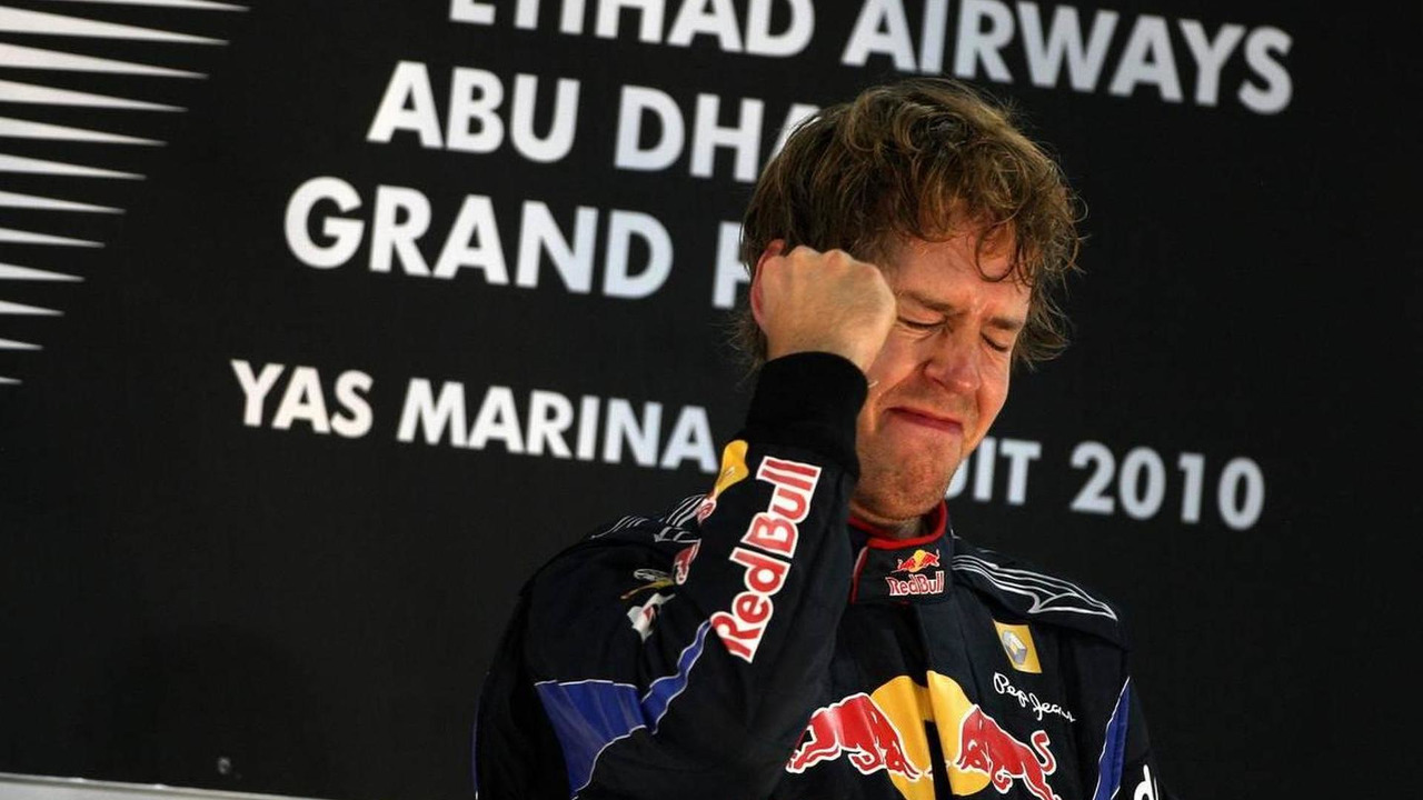 Sebastian Vettel (GER), Red Bull Racing, wins the race - Formula 1 World Championship, Rd 19, Abu Dhabi Grand Prix, Sunday Podium, 14.11.2010