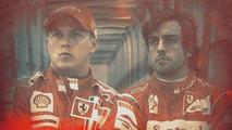 Kimi Raikkonen and Fernando Alonso fan rendered portrait 11.2013