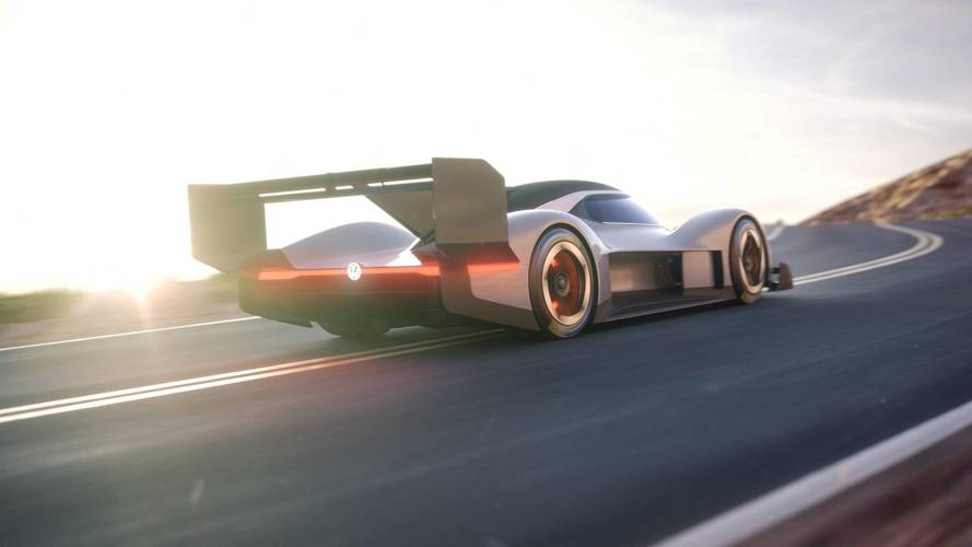 Volkswagen reveals first look at electric Pikes Peak car