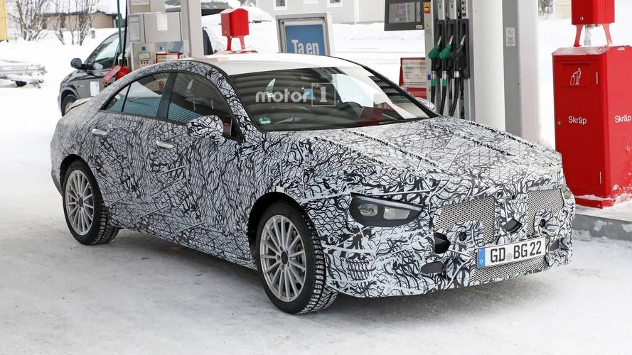 New Mercedes CLA Spotted Doing Its Best Mini-CLS Impression
