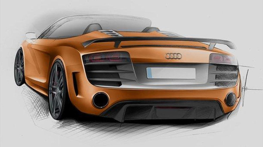 Audi R8 GT Spyder teased for Frankfurt debut