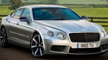 Bentley four-door coupe rendered by RM Design