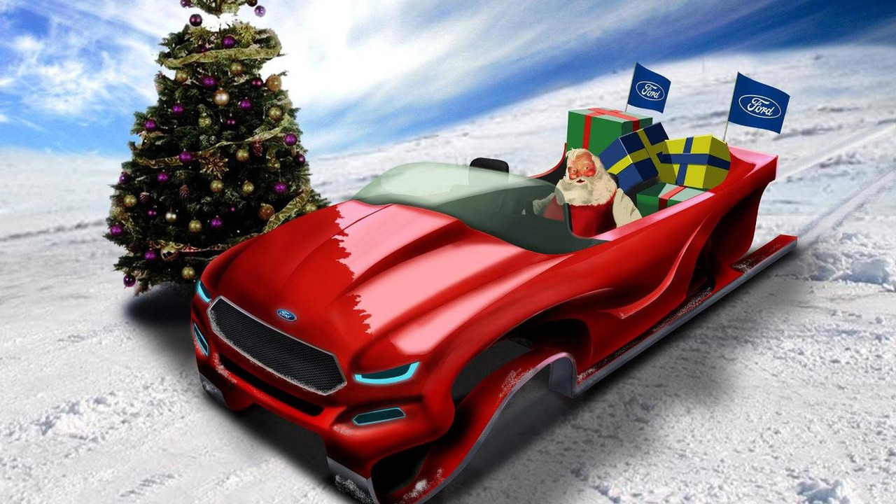 Ford Ecoboost concept sleigh 23.12.2011