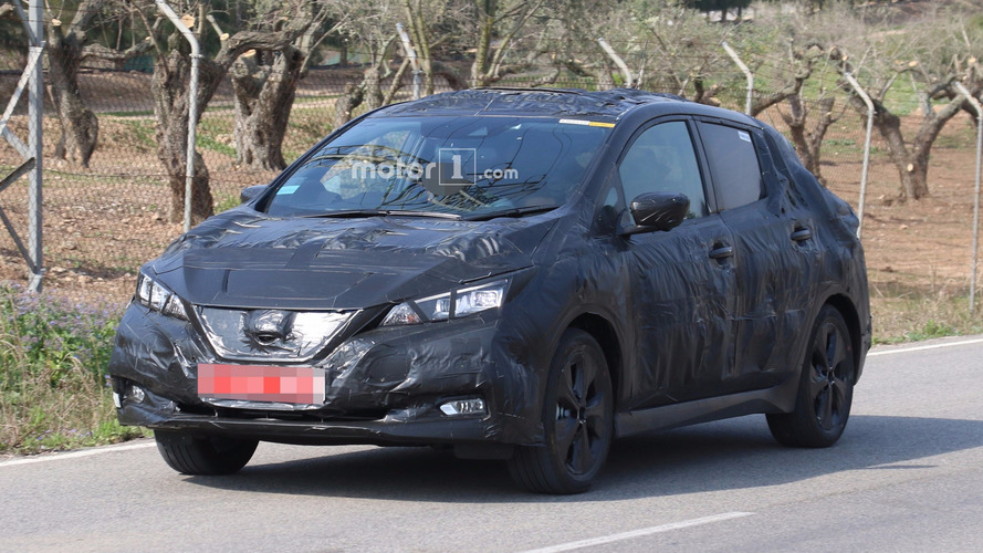 2018 Nissan Leaf Spied Hiding Sleeker Design Under Bin Bag Camo