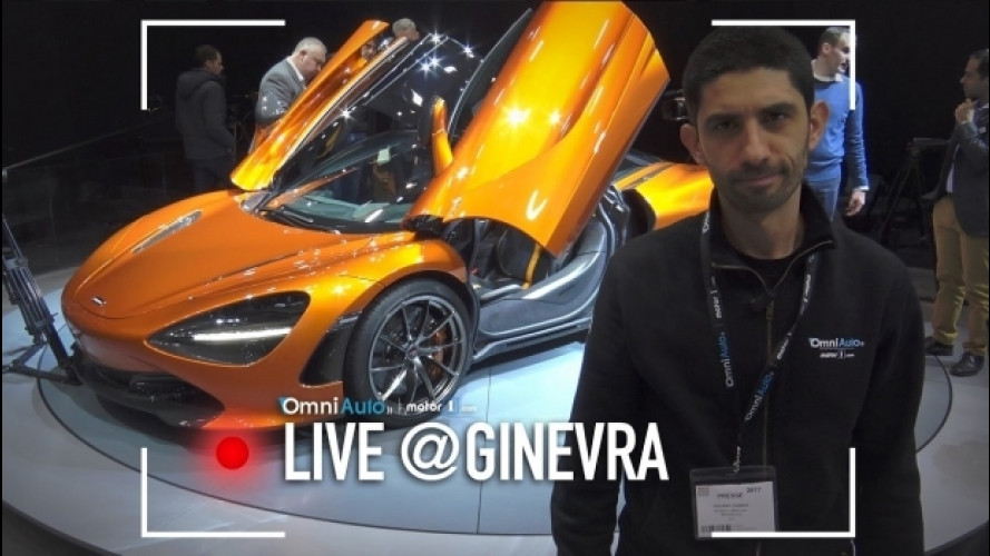 Salone di Ginevra, la McLaren 720S vista fuori... e dentro [VIDEO]