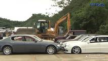 Cars Crushed In The Philippines
