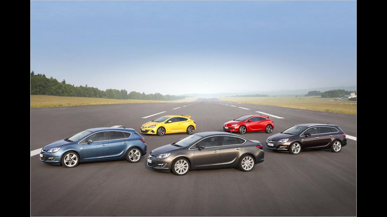 Opel Astra: rund 12 Millionen (seit 1991)