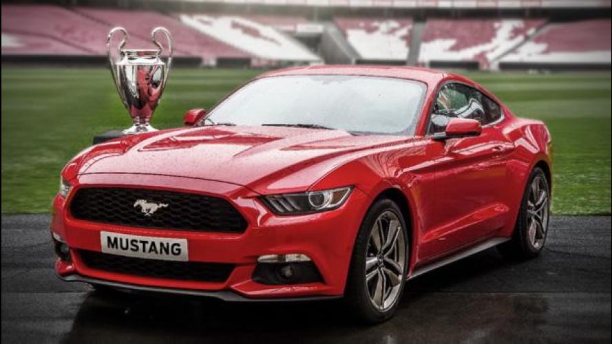 Ford Mustang, in vendita durante la finale di Champions
