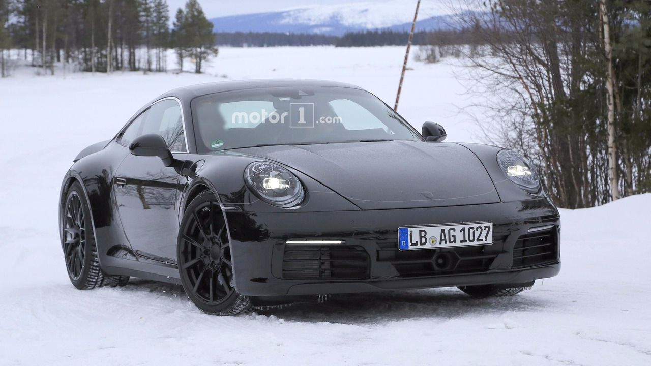 2019 Porsche 911 Spied With Mission E Taillights Update