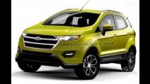 Flagra: Ford EcoSport 2017 muda frente e motor, mas estepe segue na tampa