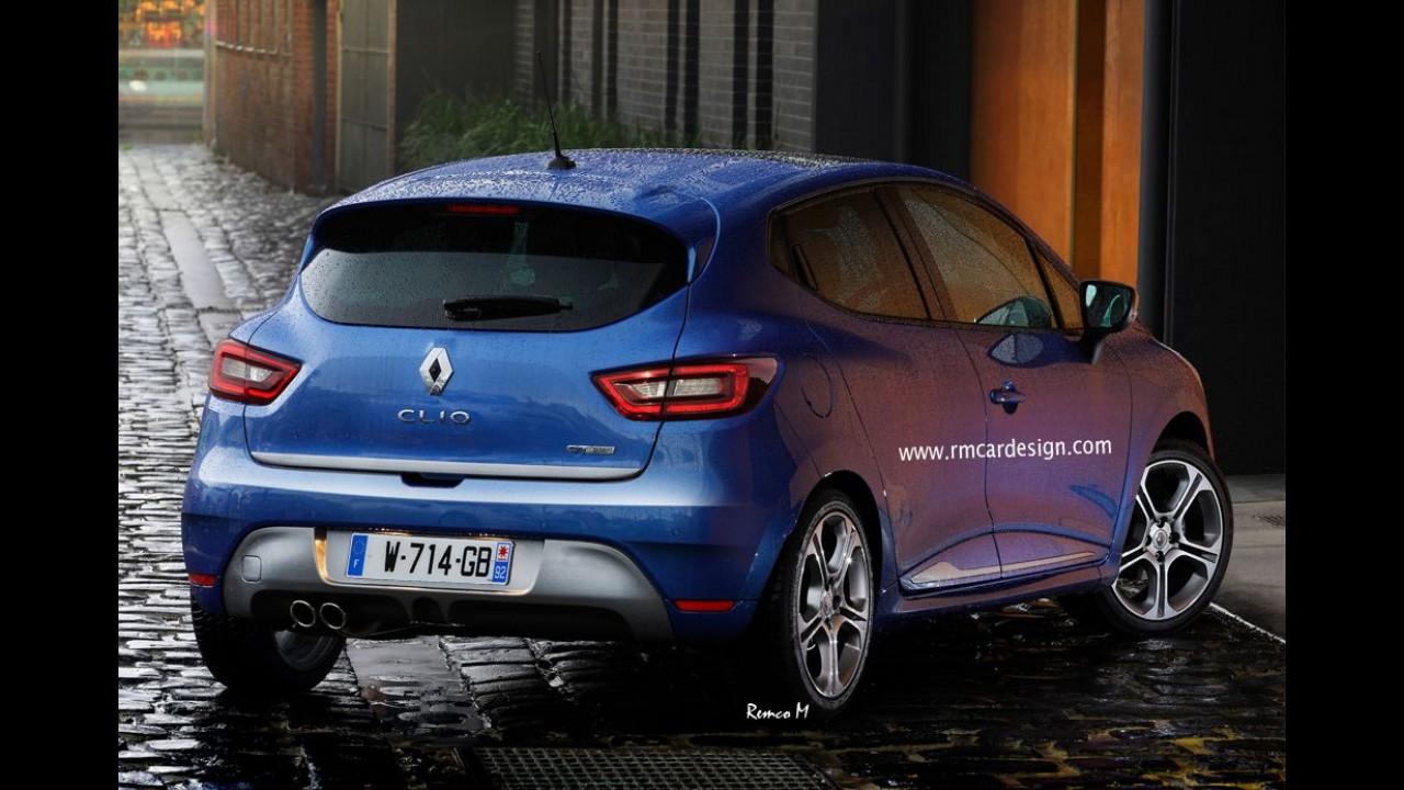 Projeção sugere novo visual do Renault Clio, que terá facelift em breve