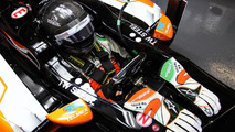 Sergio Perez with Sahara Force India F1 VJM07  Formula One Testing Jerez Spain