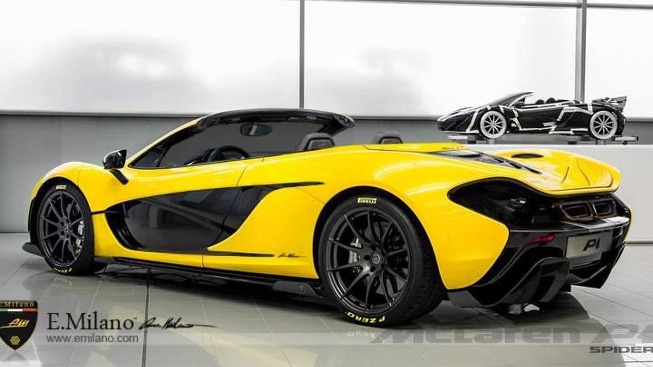McLaren P1 Spider render 06.11.2013