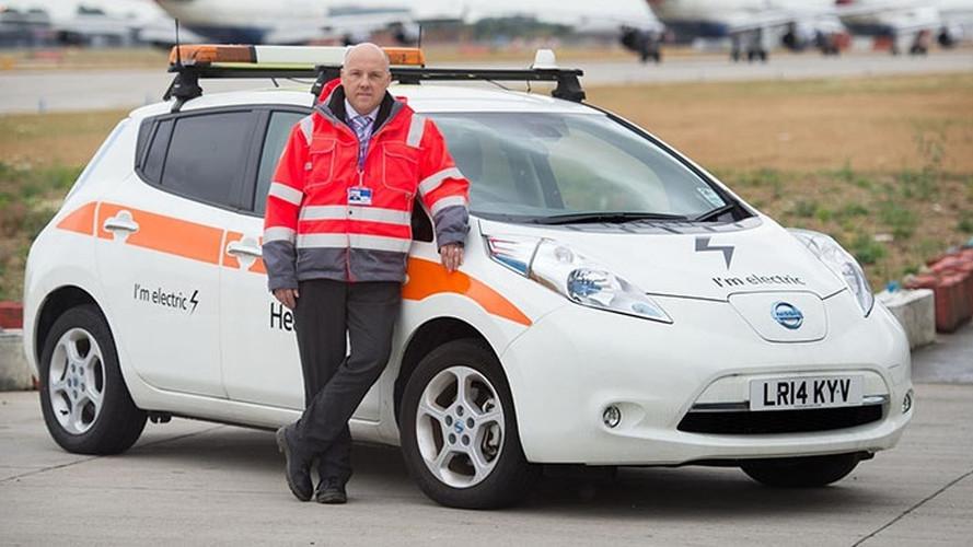 Heathrow Airport Adds Fleet Of Nissan LEAFs