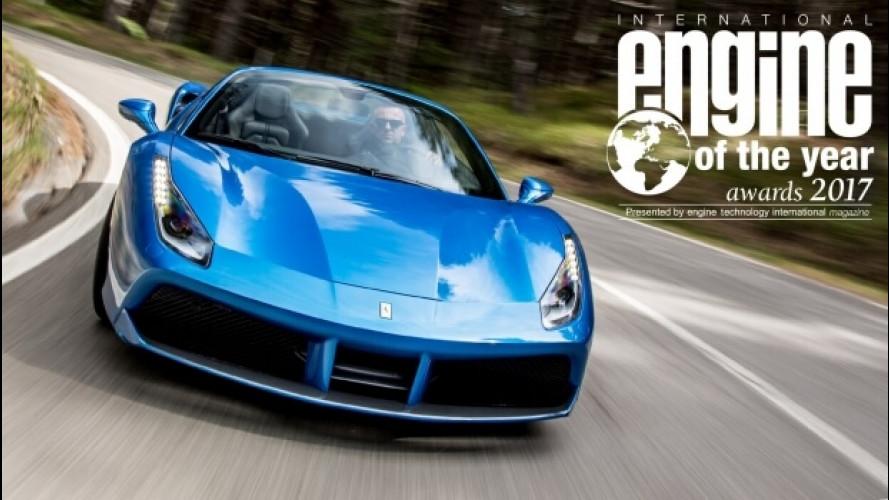 Ferrari 488 GTB, il V8 italiano è International Engine of the Year 2017