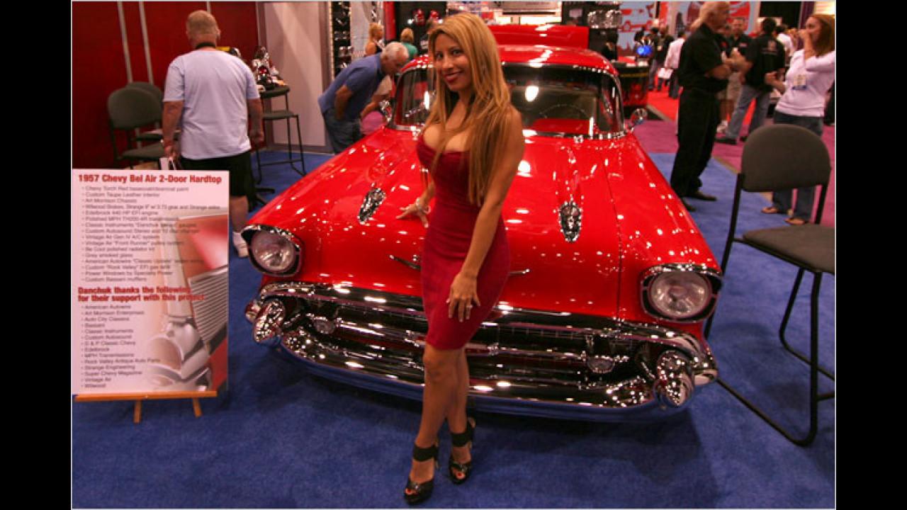 Ein Chevy Bel Air mit gleichfarbiger Bella Madonna