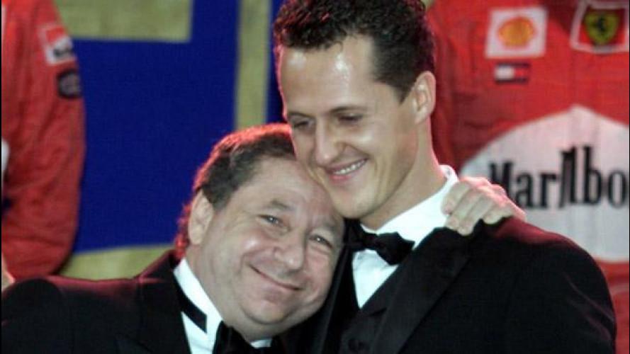 Michael Schumacher, la visita di Jean Todt