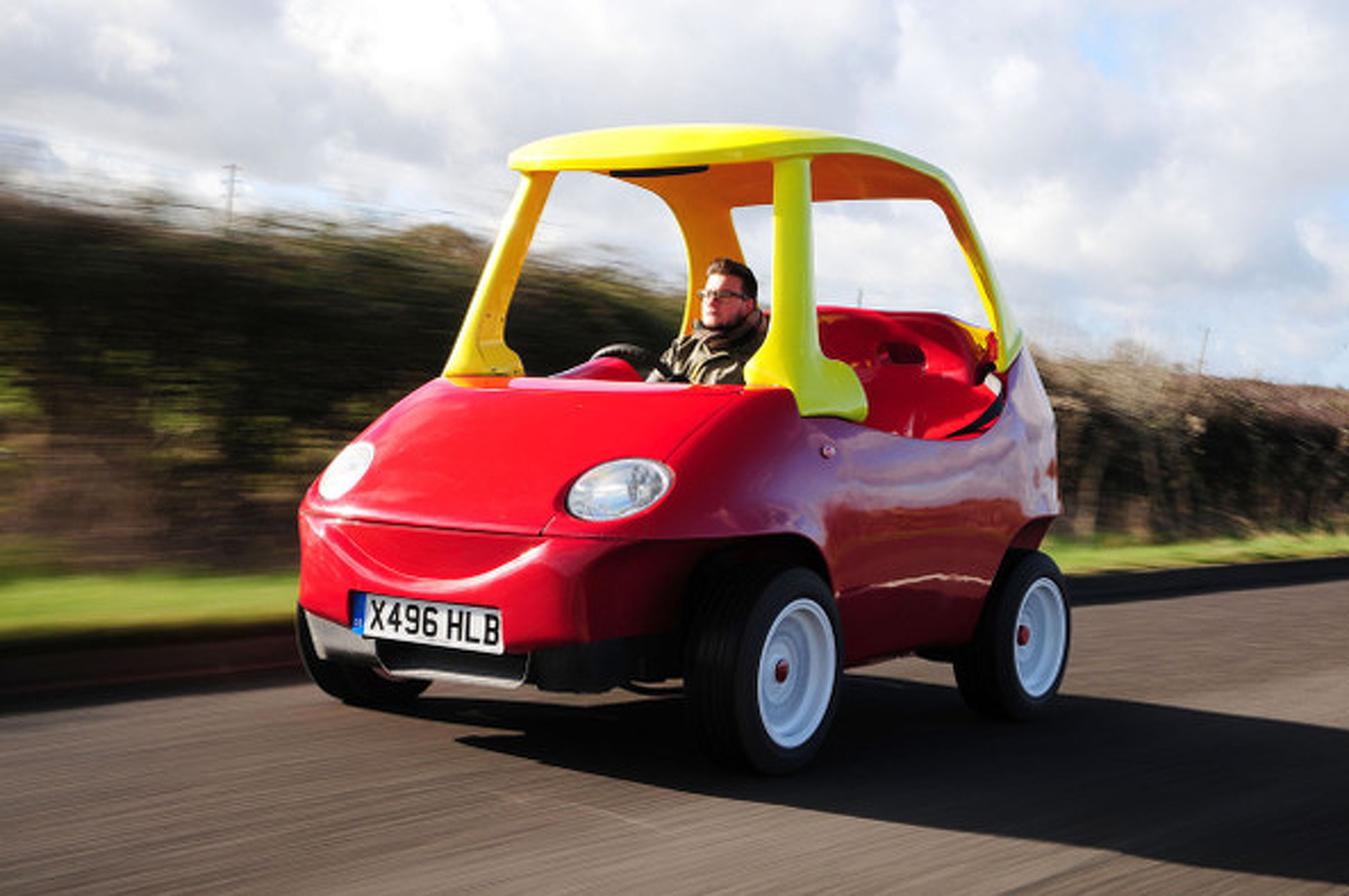 "The Toytown Coupe is a Real Life ""Little Tikes"" Car! [w/ video]"