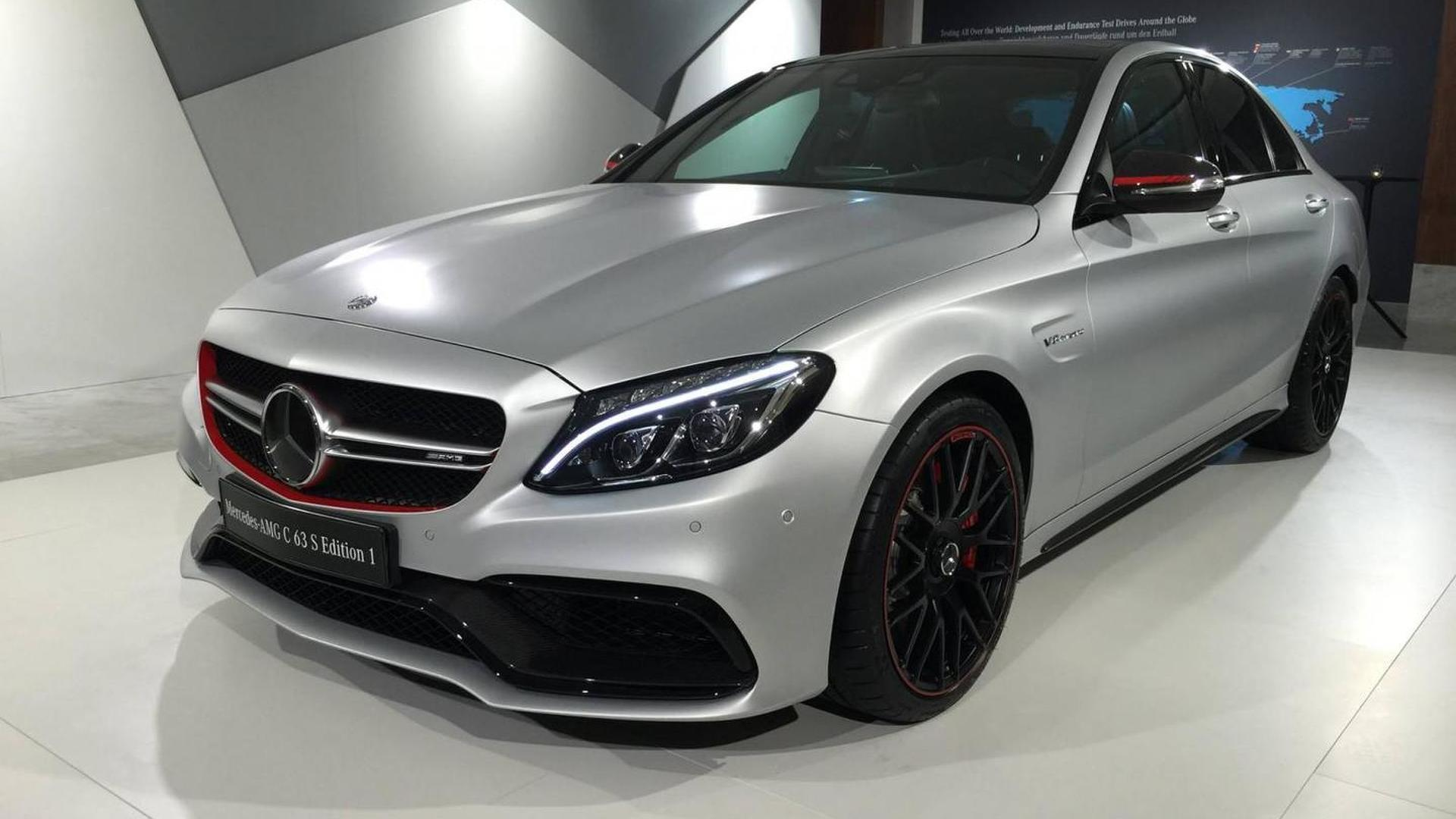 Mercedes amg c63 s edition 1 photographed up close and for Mercedes benz c63 amg