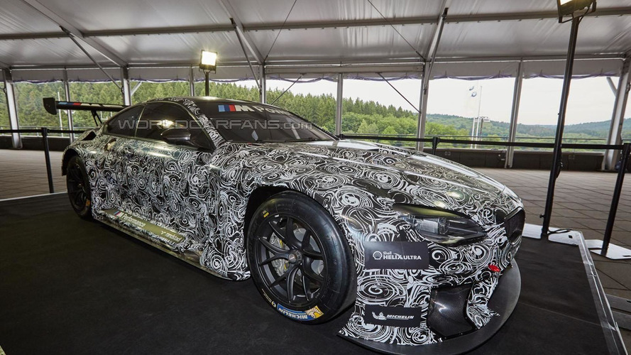BMW M6 GT3 race car caught up close