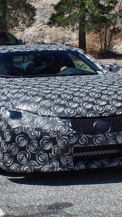 Lexus LF-LC prototype returns in new spy photo