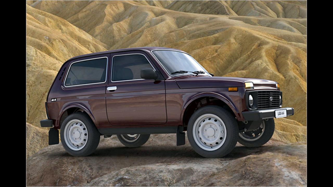 Am längsten unverändert auf dem Markt: Lada 4x4 (Niva), seit 1976