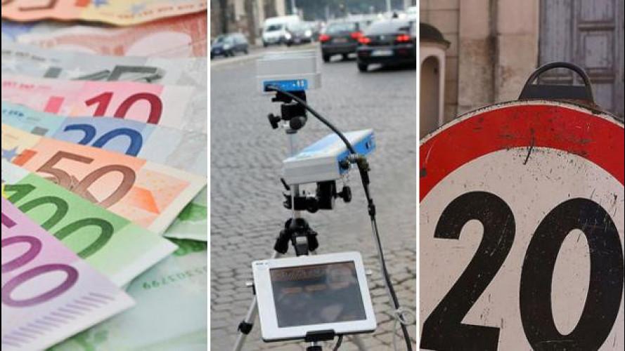Roma, strage autovelox: 750 multe al giorno