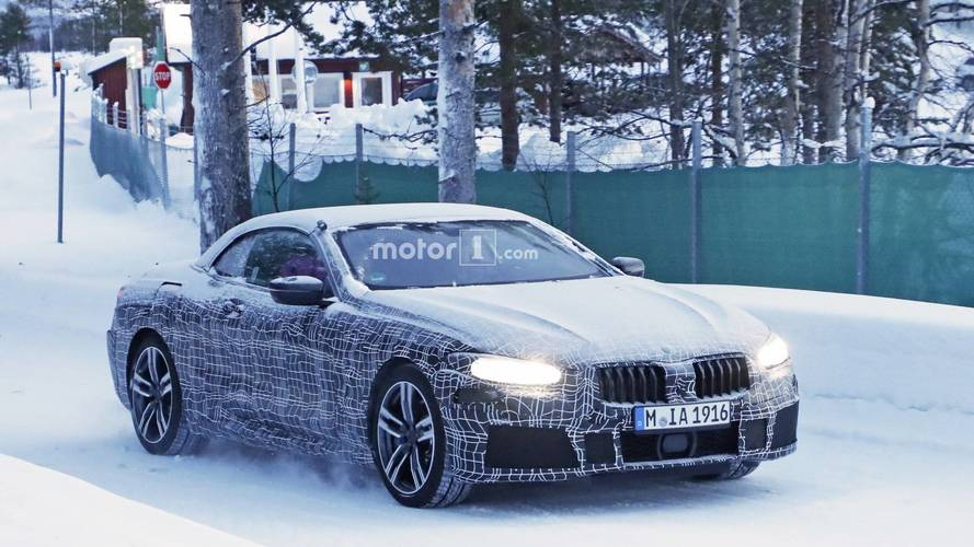 BMW 8 Serisi Cabrio'nun zarafetini kamuflaj gizleyemiyor
