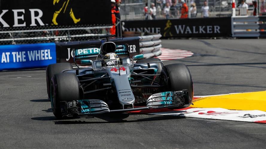 Hamilton- La Mercedes W08, la F1