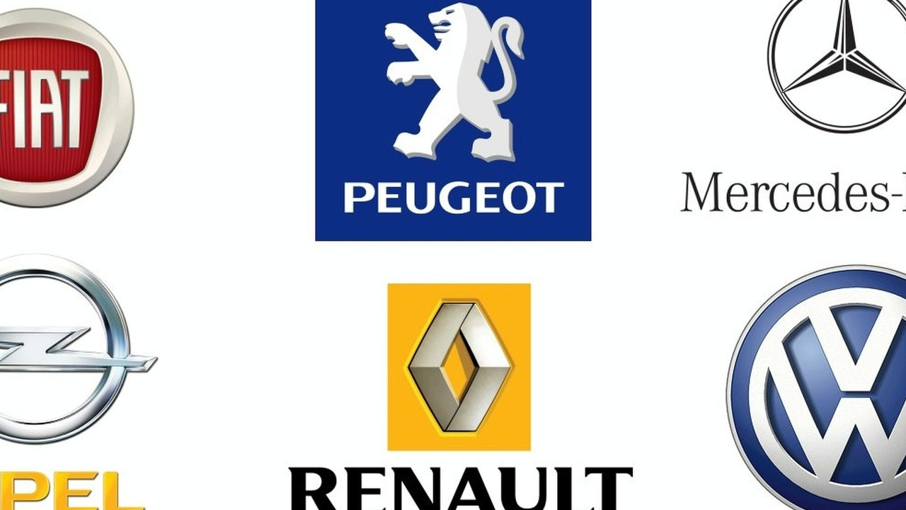 European auto makers logo collage