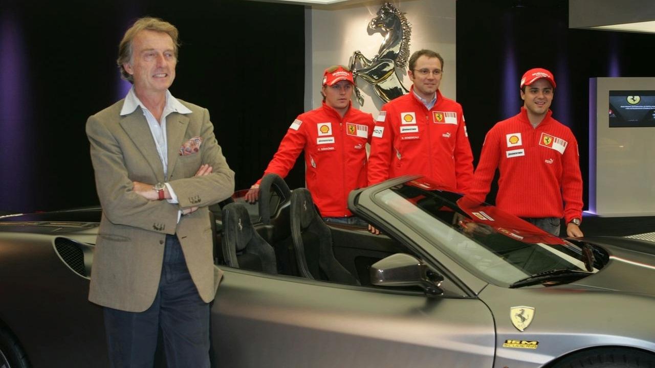 Ferrari 16m F430 Scuderia spider with Massa, Domenicali, Räikkönen and Montezemolo
