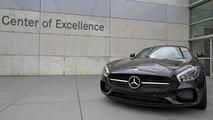 Black Mercedes-AMG GT at Center of Excellence in Sindelfingen