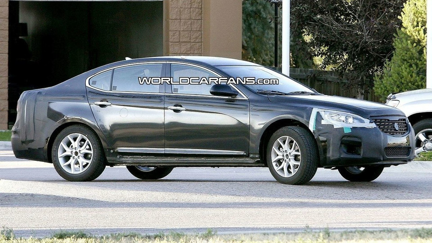 Kia VG Proto Spied with Less Camouflage
