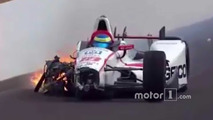 Sébastien Bourdais, Dale Coyne Racing Honda, crash