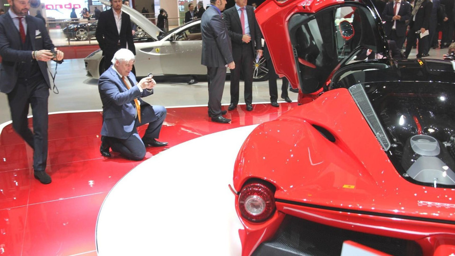 McLaren chief designer seen taking photos of the LaFerrari