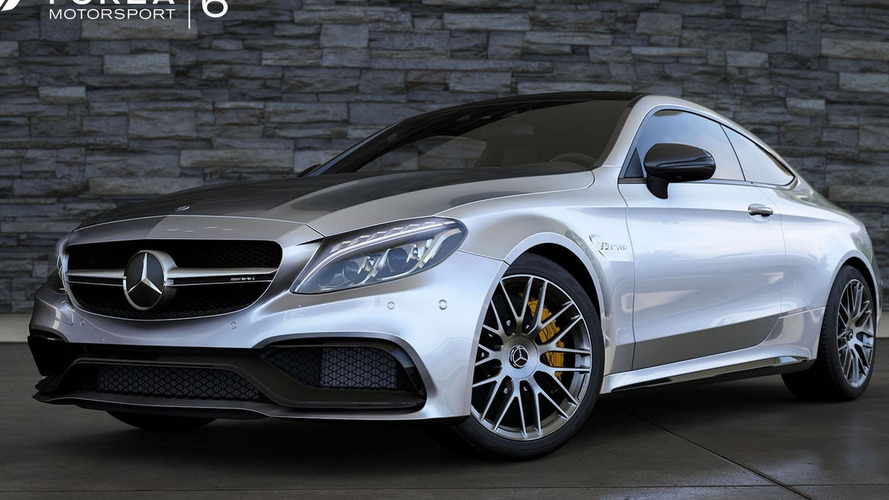 Mercedes C63 S Coupe jumps into virtual world in Forza 6 [videos]
