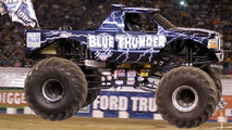Monster Trucks Take Over Tiny City