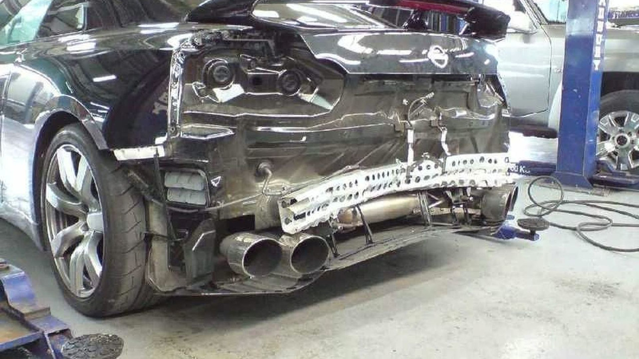 Nissan GT-R with rear damage