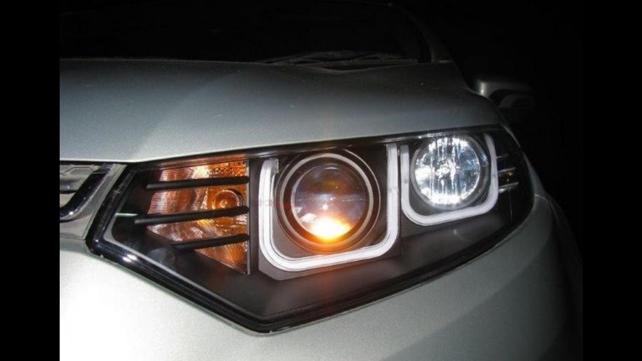 Tuning: indiano equipa Ford EcoSport com farol de LEDs