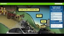 Ecochatos? Greenpeace provoca VW, Fiat e GM com carro da Idade da Pedra