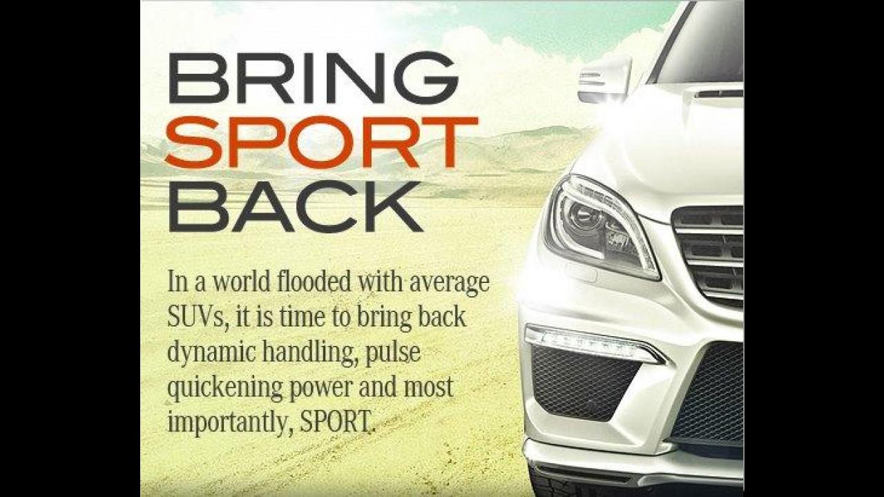 Mercedes-Benz divulga primeiro teaser do utilitário com pegada esportiva ML63 AMG