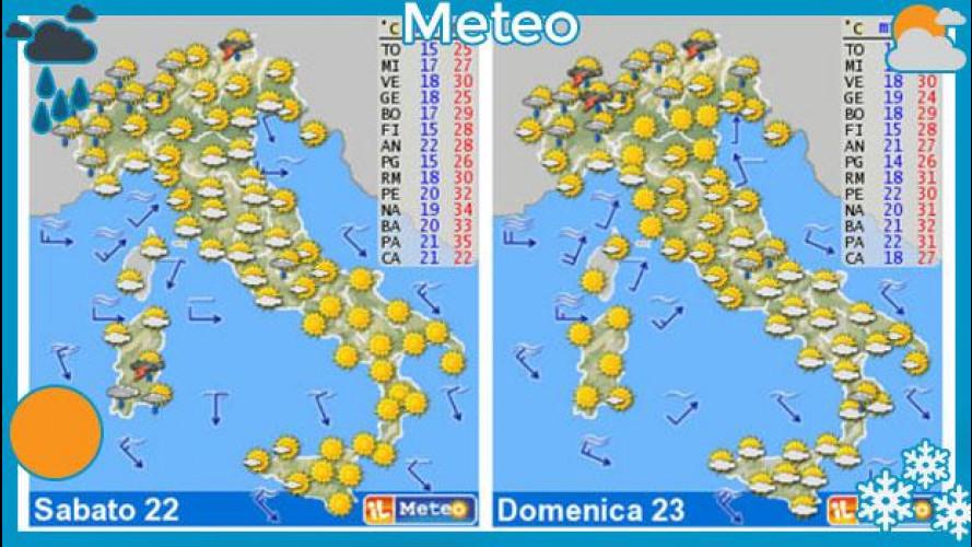 Meteo del fine settimana 22 e 23 giugno: quasi ovunque il sole