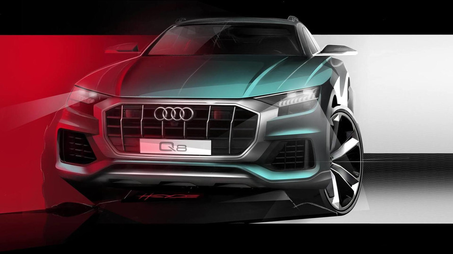 Audi teases front end of new Q8 SUV