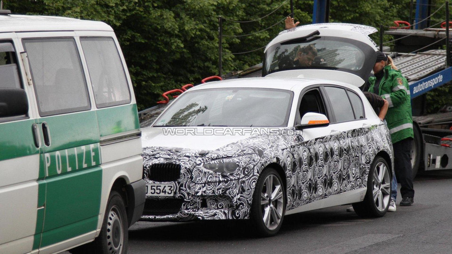 2012 BMW 135i with M-sport package spied during police stop