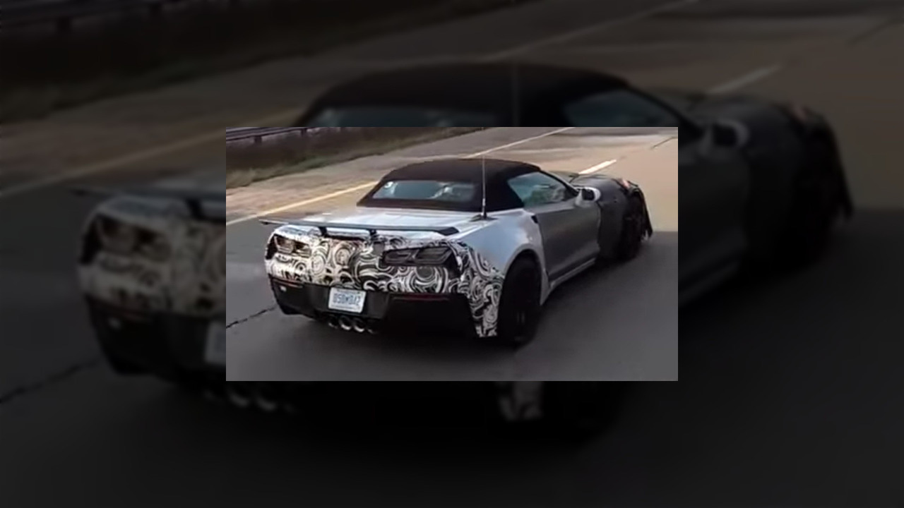 Chevrolet Corvette ZR1 Spy Video