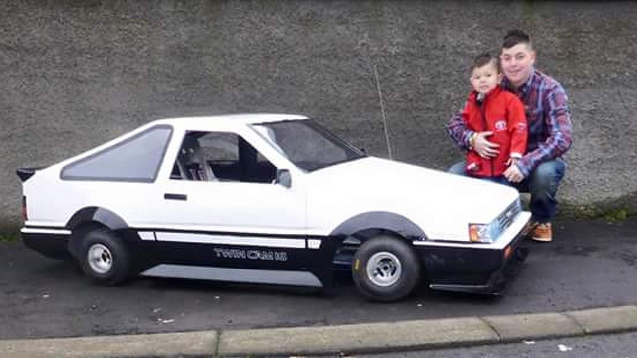 Toyota Corolla Ae86 Classic Recreated On Go Kart Chassis